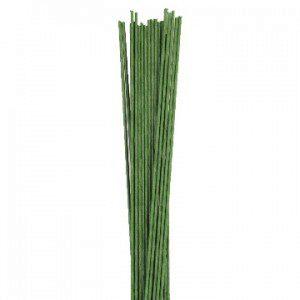 Culpitt Blumendraht / Florist wire in dunkelgrün, 18g