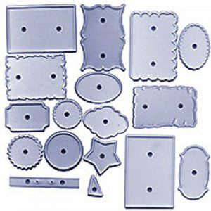 JEM 4 Cake Decorating Cutters - Plaque