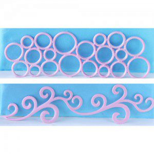 Ausstecher Bubble Frieze & Side Scroll, 2-teilig