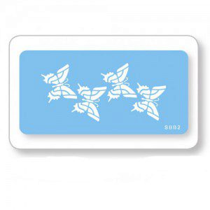 JEM Stencilschablone mit Schmetterlingen / butterflies