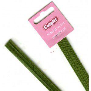 Culpitt Blumendraht / Florist wire in dunkelgrün, 20 g