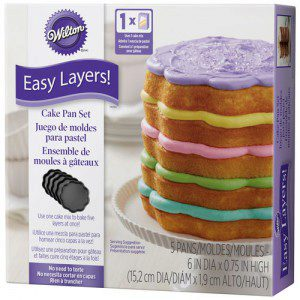 Wilton Scalloped Cake Pan Easy Layers -15cm- Set/5