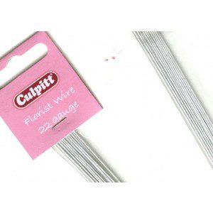 Culpitt Blumendraht / Florist wire in weiß, 22 g