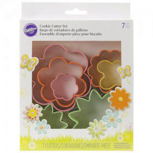 Wilton Cookie Cutter Set Mini Garden Set/7