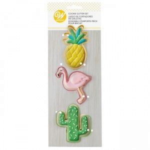 Wilton Cookie Cutter Tropical Set/3