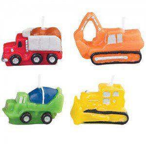 Wilton Candle Set Construction Vehicles set/4