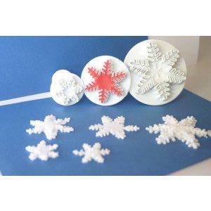 PME Snowflake / Schneeflocke, 3er Set/ Plunger