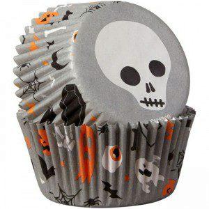 Wilton Baking Cups Skulls pk/75