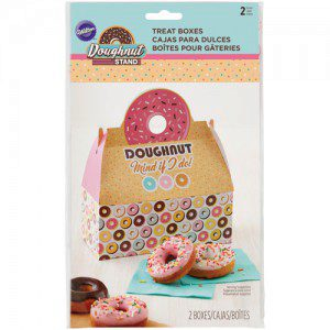 Wilton Doughnut Treat Box with Handle pkg/2