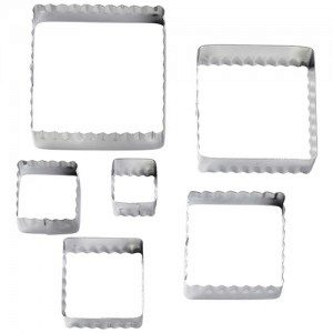 Wilton Double Cut-Outs Square Set/6