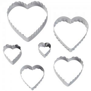 Wilton Double Cut-Outs Heart Set/6, Herzen