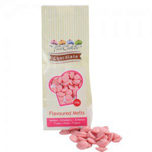 FC Flavoured Chocolate Melts Strawberry -250g-