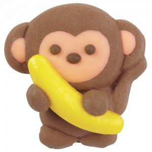 Wilton Royal Icing Decorations -Monkey with Banana-