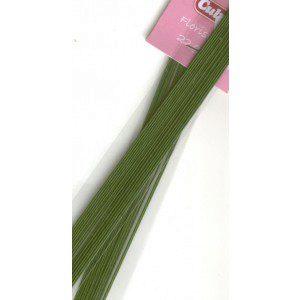 Culpitt Blumendraht / Florist wire in dunkelgrün, 22g