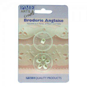 Broderie Anglaise, 2-teilig, Square & 5 Petal Eyelet Cutters
