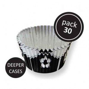 PME Foil Baking Cups Black Football Pkg/30