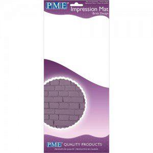 PME Impression Mat Brick - Strukturmatte Ziegel/Stein