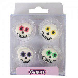 Culpitt Zuckerdekorations Party Skull Pkg/12