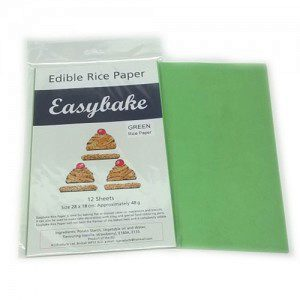 Culpitt Edible Rice Paper -Green- pk/12