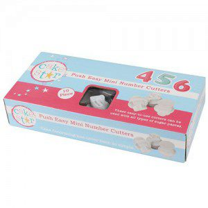 CakeStar Push Easy Cutters Mini Numbers Set/10