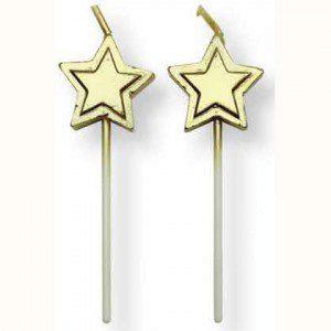 PME Kerzen Gold-Stars