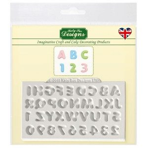 KatySue Mould Mini Domed Alphabet & Numbers