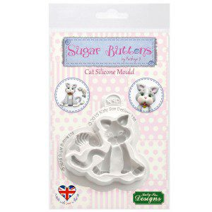 Katy Sue Mould Sugar Buttons - Cat