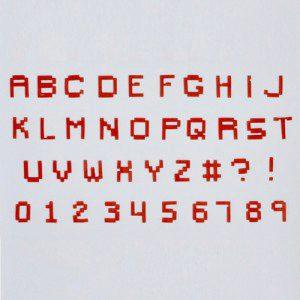 FMM Alphabet & Numbers Tappits Pixel Upper Case, Großbuchstaben und -zahlen