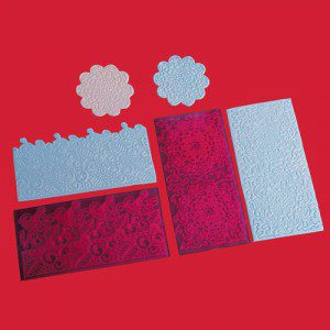 FMM Impression Mats - Filigree Lace, Set 4