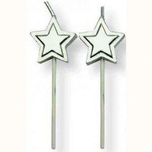 PME Kerzen Silver-Stars