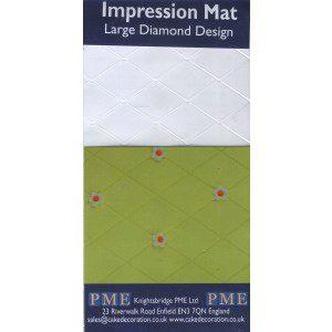 PME Impression Mat Large Diamond Design - Strukturmatte große Rauten