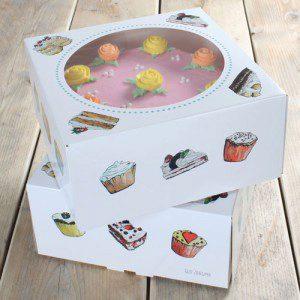 FunCakes CakeBox -Cakes 26x26x12cm- pk/2