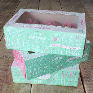 FunCakes Cupcake Box -Quotes- 24x16cm + insert pk/3