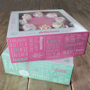 FC Cake Box -Quotes- 26x26x12cm pk/2
