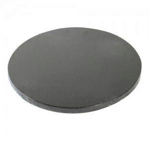 FC Cake Board in schwarz, rund, 25 cm