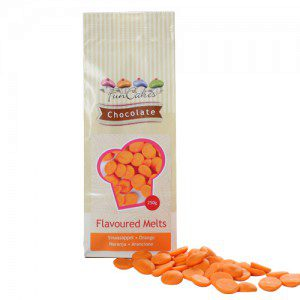 FC Flavoured Chocolate Melts Orange -250g-
