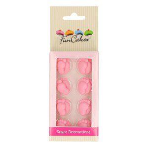 Zuckerdekorationen Baby Füße Set rosa Set/16