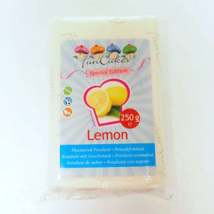 FunCakes Flavoured Fondant White -Lemon- -250g-
