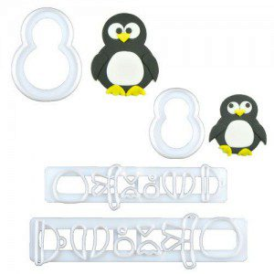 FMM Mummy & Baby Penguin Cutter Set/4, Pinguin