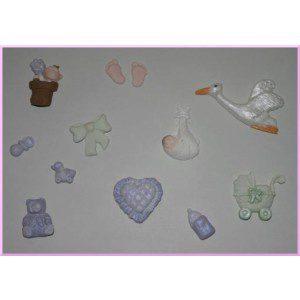 Fimo Mould mit verschiedenen Babymotiven