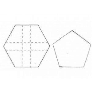 Fine Cut Fußballecken-Ausstecher, 2-er Set, groß