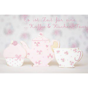 Wilton Tea Party Cookie - Tasse, Kanne, CupCakes