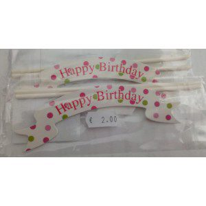 Cake Topper - Happy birthday - Banner