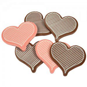 Fat Daddio's Polycarbonate Chocolate Mold 2Piece -Herz
