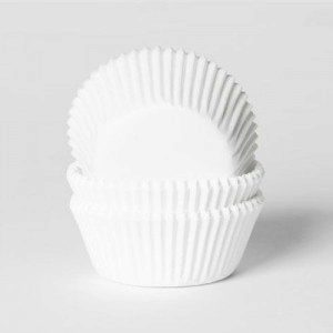 HoM Baking cups White Small - pk/50