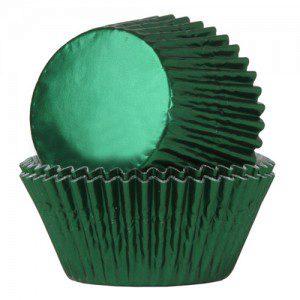 HoM Backförmchen - grün metallic glänzend, 24
