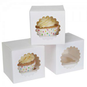 HoM -  Cupcake Box 1 -White- Pkg/3