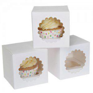 HoM -  Cupcake Box 1 -White- Pkg/3
