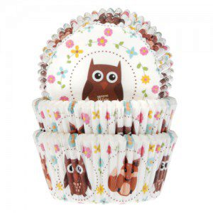 House of Marie Baking Cups Owl & Fox pk/50