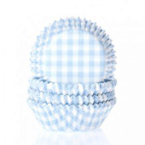 HoM Backförmchen mit Karomuster in Gingham Pastel Blue